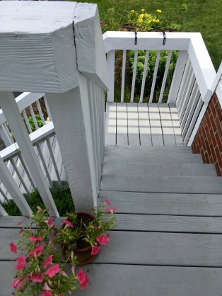 Flowers on the stairs