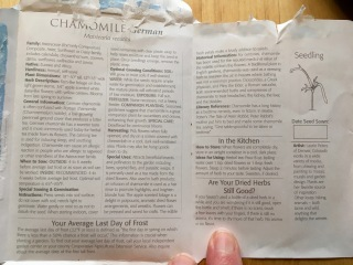 Chamomile seed instructions