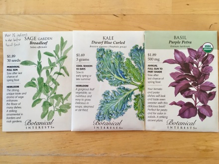 Sage, Kale, Purple basil packets