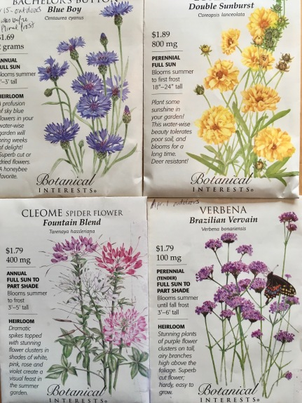mid april seed packets
